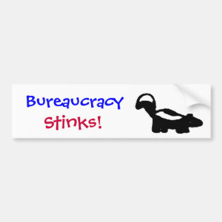 PA- Bureaucracy Stinks! Bumper Sticker