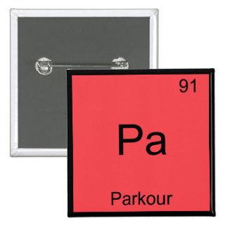 PA - Camiseta divertida del símbolo del elemento d Pin Cuadrado