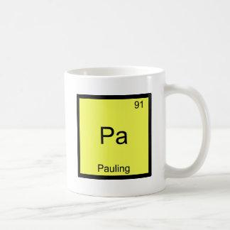 PA - Camiseta divertida del símbolo del elemento d Taza