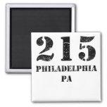 PA de 215 Philadelphia Imán Cuadrado
