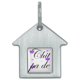 PA de - birmano del Chit - te amo (2) Purple Heart Placas De Nombre De Mascota