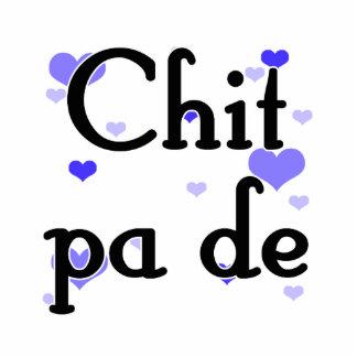 PA de - birmano del Chit - te amo (3) corazones Fotoescultura Vertical