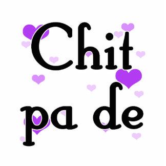 PA de - birmano del Chit - te amo (3) Purple Heart Fotoescultura Vertical
