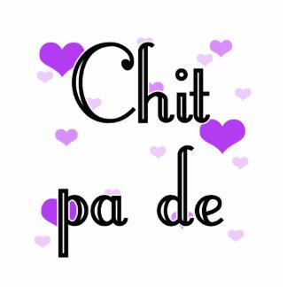 PA de - birmano del Chit - te amo (4) Purple Heart Fotoescultura Vertical
