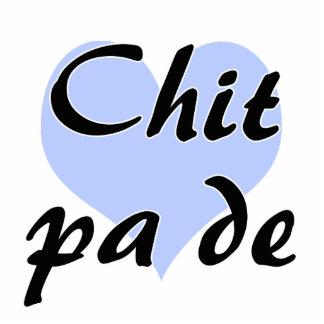 PA de - birmano del Chit - te amo Heart.png azul Fotoescultura Vertical