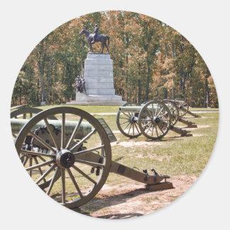 PA de Gettysburg de los cañones del campo de batal Etiquetas Redondas