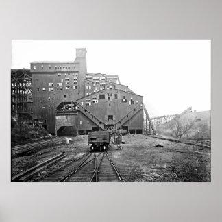 PA de Kingston del triturador del carbón de Woodwa Póster