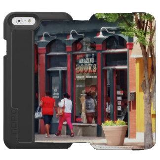 PA de Pittsburgh - El dar un paseo a lo largo de Funda Billetera Para iPhone 6 Watson