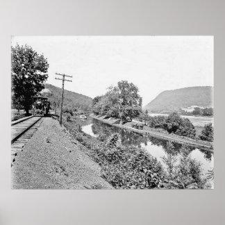 PA de Shickshinny. Impresión del canal Póster