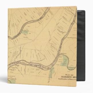 """PA del río de Allegheny, mapa Carpeta 1 1/2"""""""