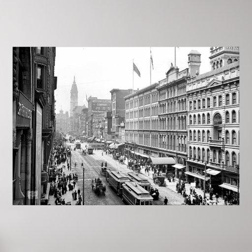 PA del St. Philadelphia de 1904 mercados. Impresió Póster