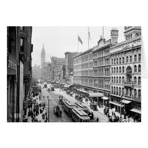 PA del St. Philadelphia de 1904 mercados. Tarjeta