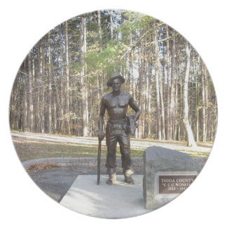 Pa Grand Canyon CCC Statue.JPG Dinner Plate