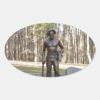 Pa Grand Canyon CCC Statue.JPG Oval Sticker