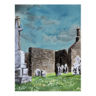 PA impresionista de la acuarela de Clonmacnoise Postal
