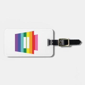 PA Keystone Marriage Equality Rainbow Graphic Bag Tag