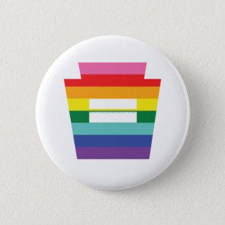 PA Keystone Marriage Equality Rainbow Graphic Pinback Button