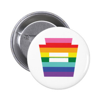 PA Keystone Marriage Equality Rainbow Graphic Pinback Button