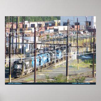 PA meridional de Harrisburg de la yarda del ferroc Posters