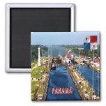 PA - Panamá - cerraduras del canal Imán Cuadrado