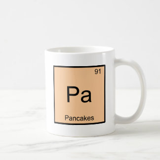 Pa - Pancakes Funny Chemistry Element Symbol Tee Classic White Coffee Mug