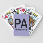 PA Pennsylvania  plain black Bicycle Playing Cards