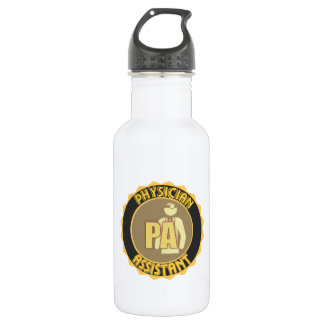 PA PHYSICIAN  ASSISTANT LOGO STAINLESS STEEL WATER BOTTLE