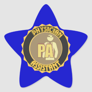 PA PHYSICIAN  ASSISTANT LOGO STAR STICKER