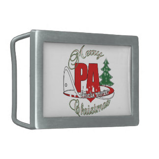 PA PHYSICIAN  ASSISTANT MERRY CHRISTMAS BELT BUCKLES