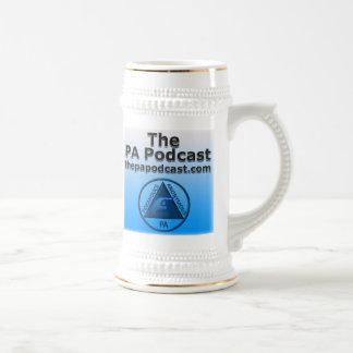 PA Podcast Stein 18 Oz Beer Stein