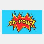 Pa-Pow! Rectangular Sticker