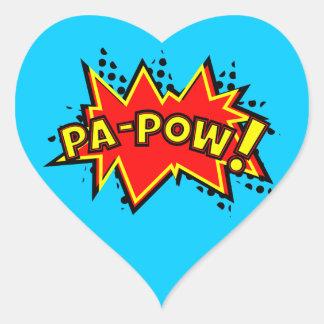 Pa-Pow! Heart Sticker