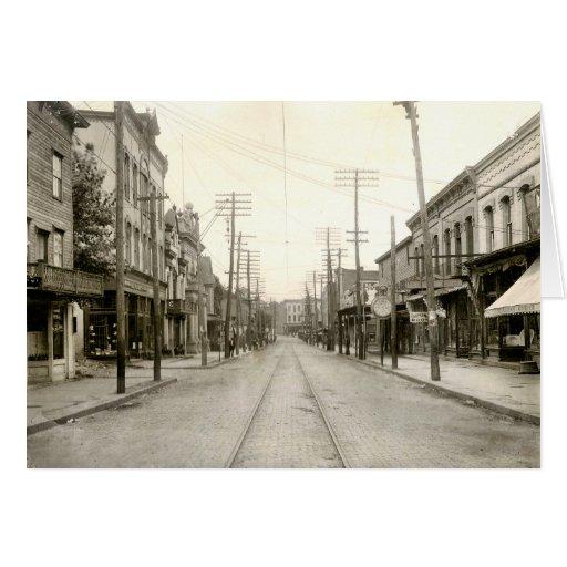 PA principal del St. Nanticoke. 1906 Felicitación