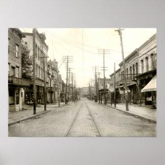 PA principal del St. Nanticoke. 1906 Póster