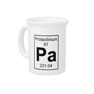 Pa - Protactinium Drink Pitchers