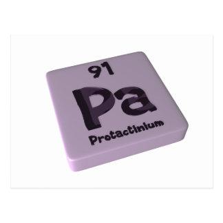 Pa  Protactinium Postcard