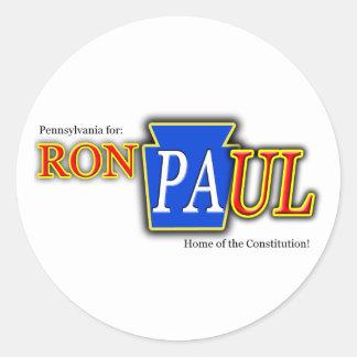 PA Ron Paul Sticker! Classic Round Sticker