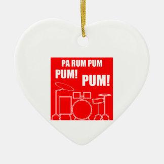Pa Rum Pum Pum Pum Ceramic Ornament