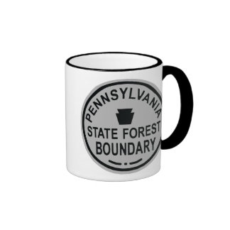 PA State Forest Boundary Ringer Coffee Mug