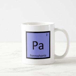 PA - Tabla periódica de la química del estado de Taza