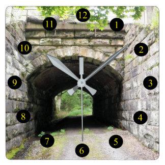 PA Tunnel Square Wall Clock