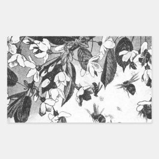 Paa Kirsebaergrenen by Theodor Severin Kittelsen Rectangular Sticker
