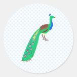 Paavo Peacock Round Stickers