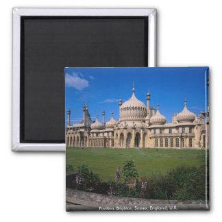 Pabellón, Brighton, Sussex, Inglaterra, Reino Unid Imán Cuadrado