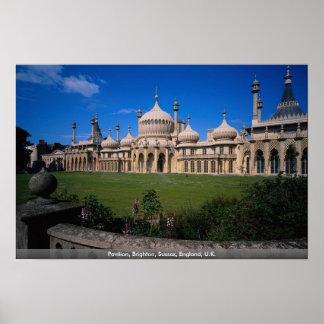 Pabellón, Brighton, Sussex, Inglaterra, Reino Unid Póster