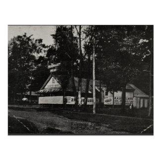 Pabellón de la danza, parque de Fairmont, león roj Tarjetas Postales