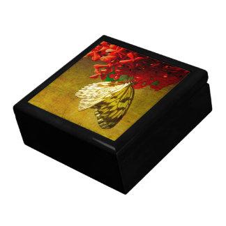 Pabellón de la mariposa - cometa de papel - caja joyero cuadrado grande