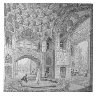 Pabellón de los ocho paraísos, en Isfahán, de Teja