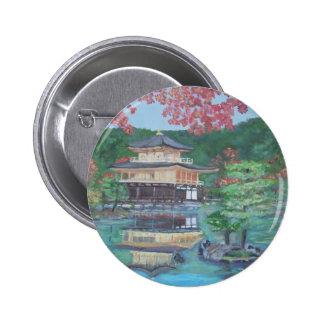 Pabellón de oro en el botón de Kyoto Pins