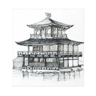 Pabellón de oro Kinkakuji Kyoto.png Blocs De Papel